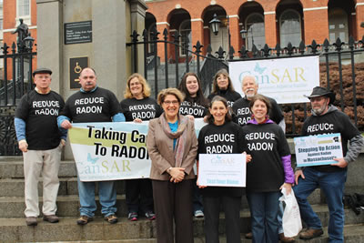 Radon Action Month - Massachusetts Capital Steps
